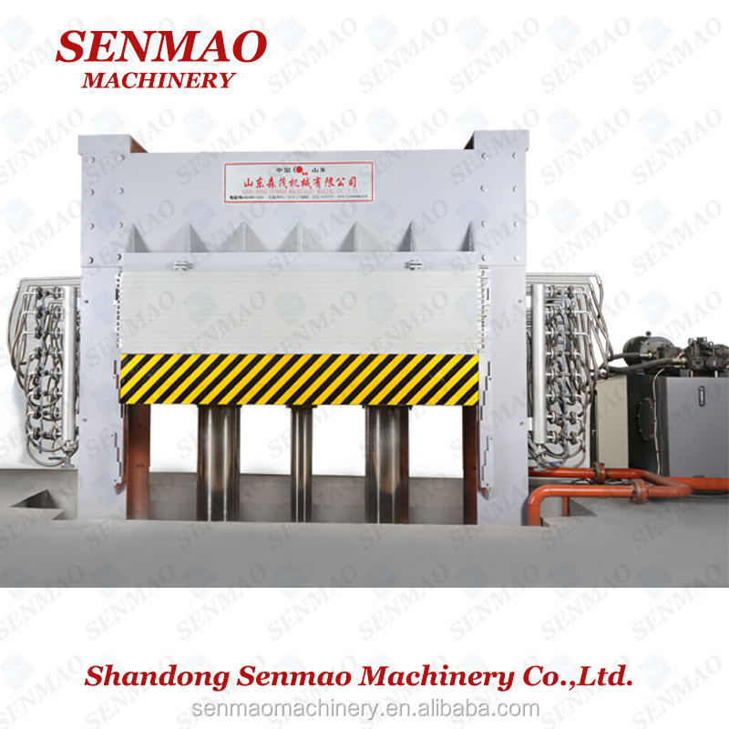 MDF laminating hot press machine/plywood production hot press making machine/Furniture melamine paper hot press