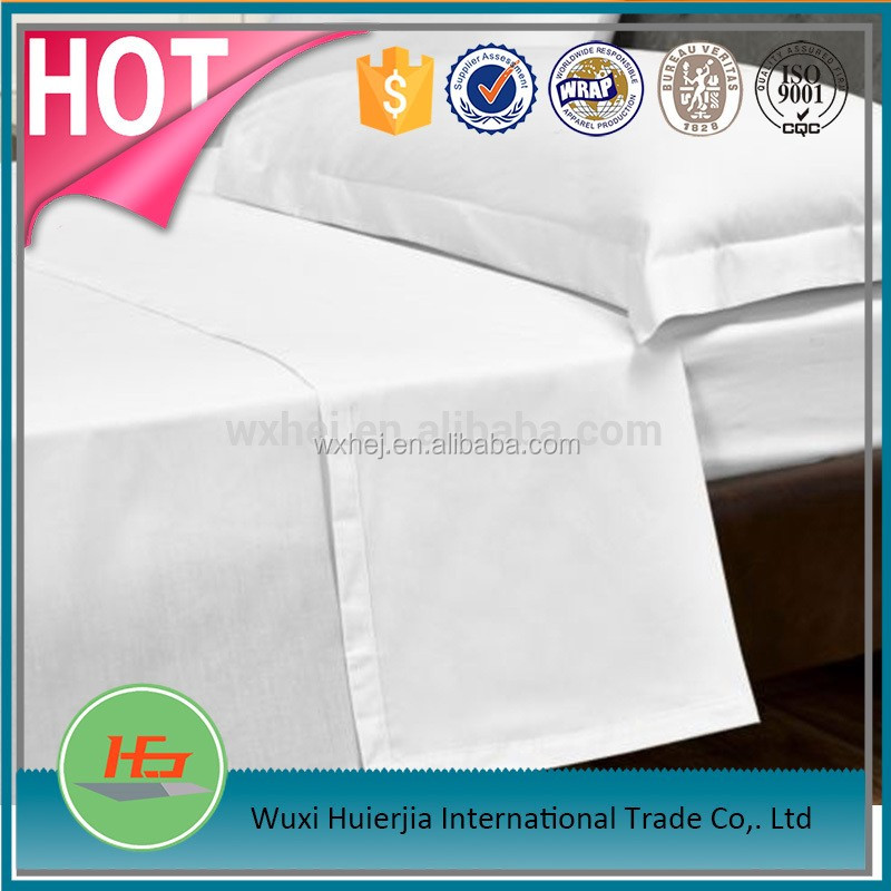 Wholesale Full Size Striped White Bedding Sets For 5 star Hotel