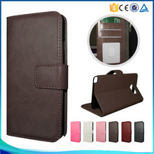 Simple Luxury Business PU Leather ID Credit Card Holders Flip Wallet Cover Case For Blackberry Z10