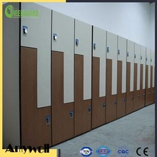 Amywell wearproof wooden grain L Z door hpl formica sheets bathroom lockers