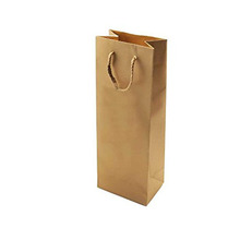 Eye-catching cheap printed custom low cost kraft brown paper wine gift bag