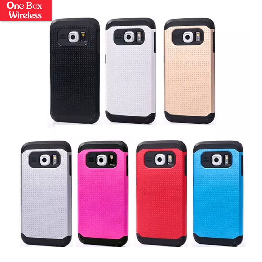 Hybrid Defender High Impact Body For Samsung Galaxy S6 Edge Armor Hard Pc & Silicone Case Protective Cover