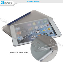 for ipad mini 4 smart case auto wake up / sleep, cheap pu case with hard shell for ipad mini 4