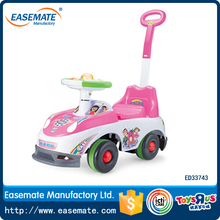 Pink Color Fashion Type Baby Ride On Car With Push Handle