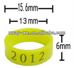 2013 best selling soft plastic bird ring for pigeon