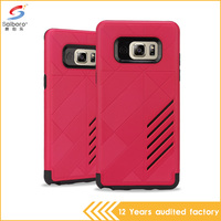 Factory sale Hard plastic pc and tpu shockproof red color cell phone case for samsung galaxy note 6