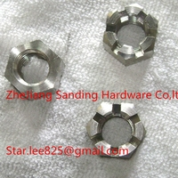 Class10 zinc plated Hex castle slotted Nut