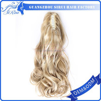High quality new products hair extension, cheap hair accessories uk, japanese kanekalon sythetic fiber clip on ponytail