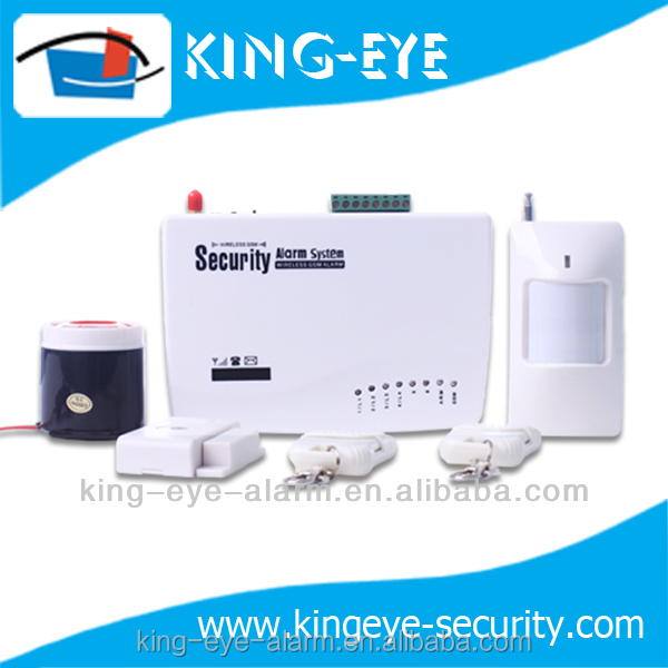 high quality intelligent auto dial gsm 6 wireless zone auto memory adt home security systems