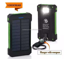 Newest magic mirror 2000mah Solar power bank with SOS,LED Torch function for outside sports OEM highly welcome YPB202