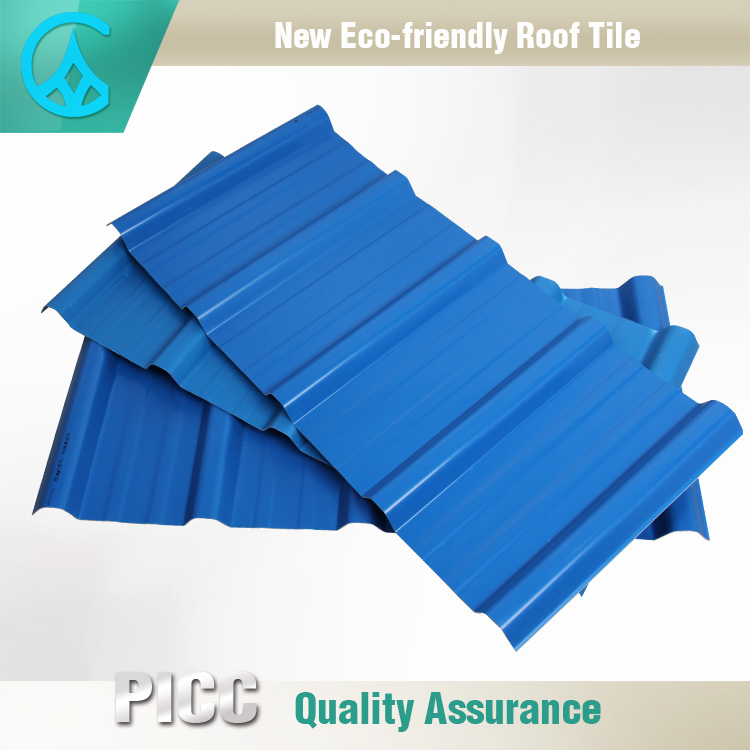 anti-climate acrylic roof tile /asa coated roof tile PVC corrugated roofing sheet for factory
