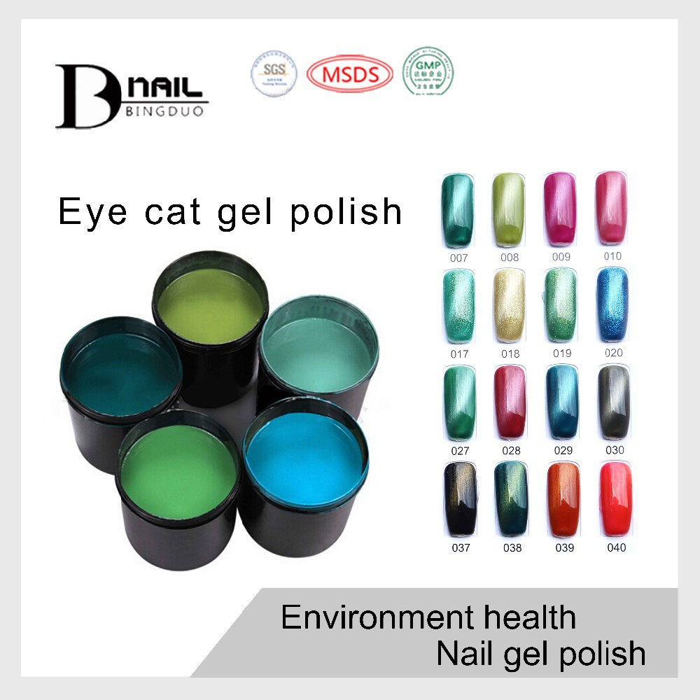 Guangzhou BD Private label cat eye gel nail polish OEM your own brand