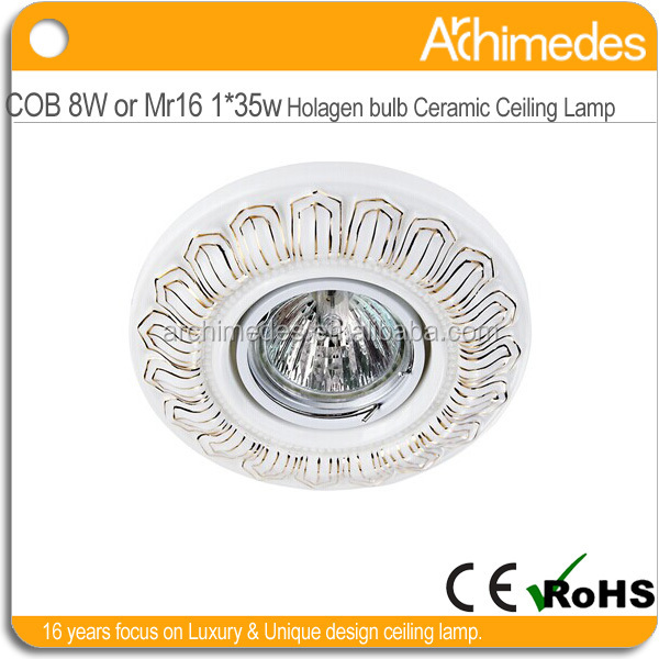 handicraft housing for led lighting lamp shade cobw8wmr16holagen35w glass material 220v round shape ip44 indoor use ce&rohs