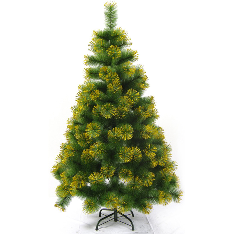 Christmas Tree With Gold Glittering