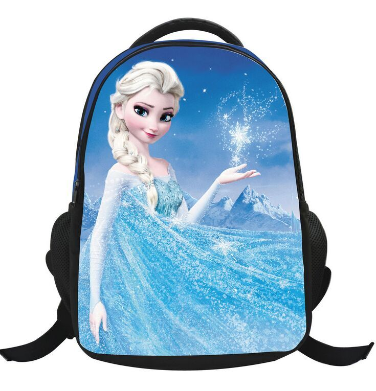 (Top Quality) Wholesale New Arrival Frozen Children School Bags Printing Cartoon Schoolbag Kids Backpack For Girls