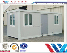 Low cost energy-saving box type container house prefab hotel/motel shipping container house