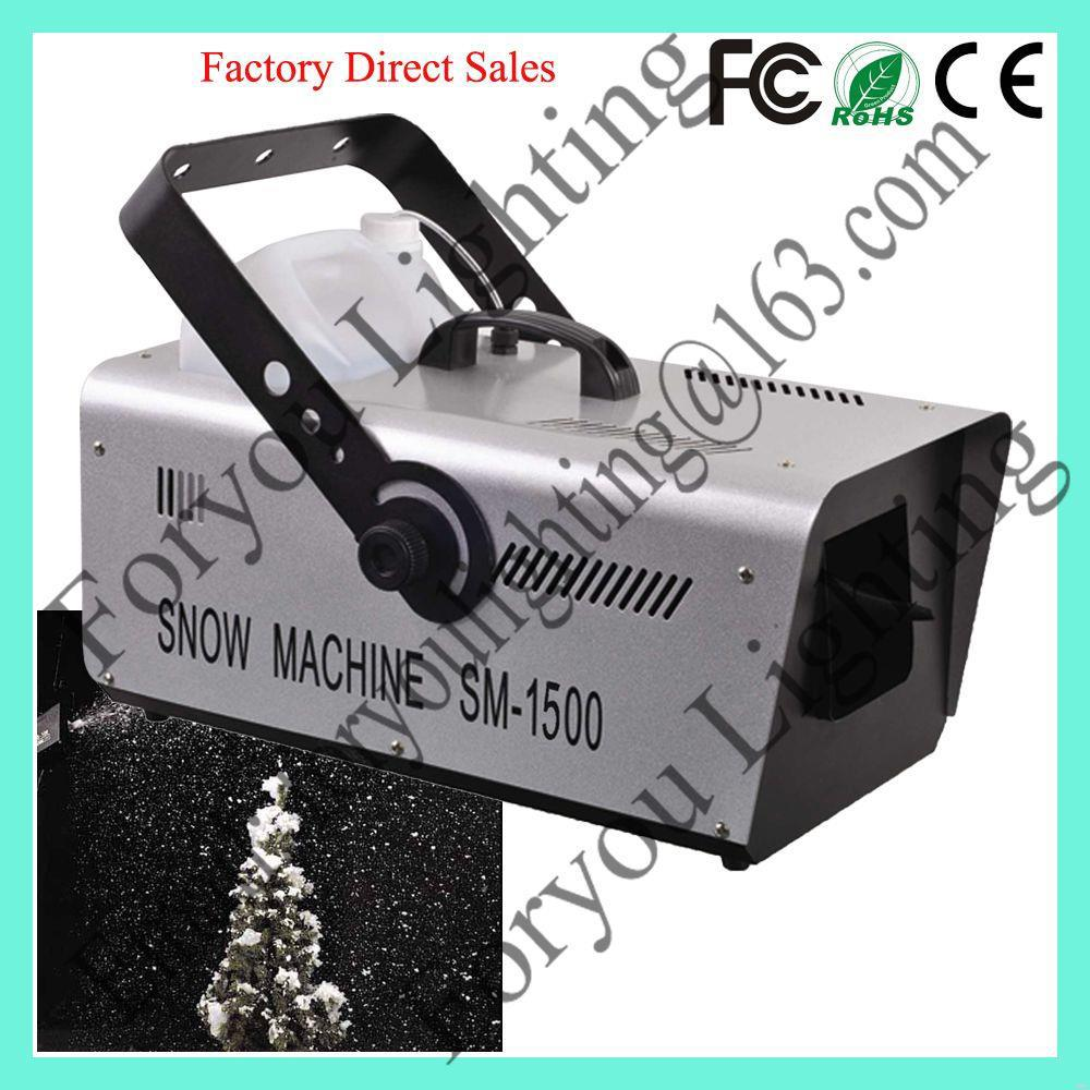 high quality factory direct stage light 1500w snow making machine