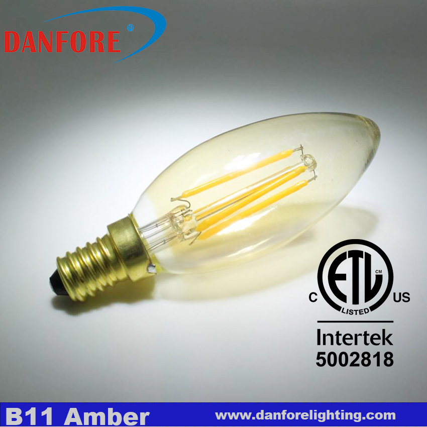 ETL Listed 2w Dimmable E12 LED candle bulb
