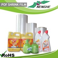 China supplier best clear plastic packaging pof heat shrinkage film