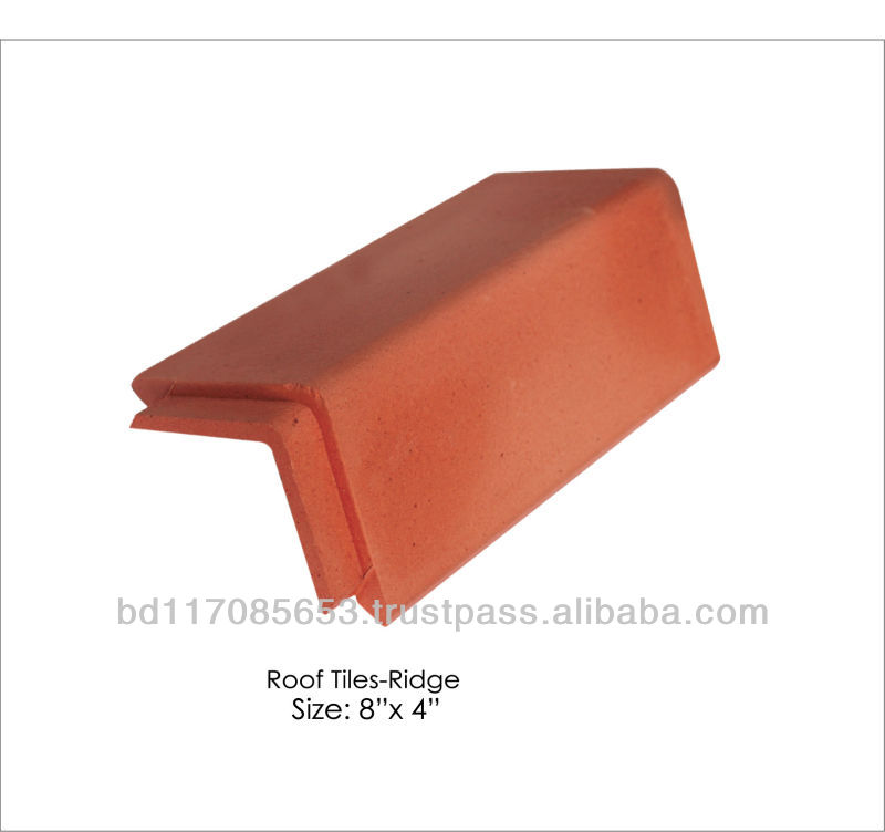 Roof Tiles Ridge, Clay, natural color/ Eco friendly/ Heat Insulation/ Water Resistance/ Cooler