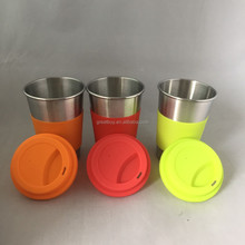 retainable stainless steel beer cup tumbler pint glass
