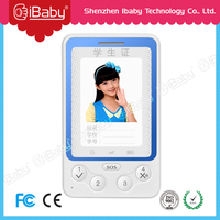 Children RFID student card phone gps mobile phone voice tracker with SOS