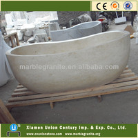 Natural Galala Beige Marble Bath Tub