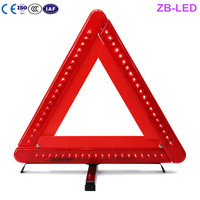 CE certification first class dangerous occasion LED warning triangle