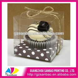 New environmental attractive clear plastic cupcake box packaging