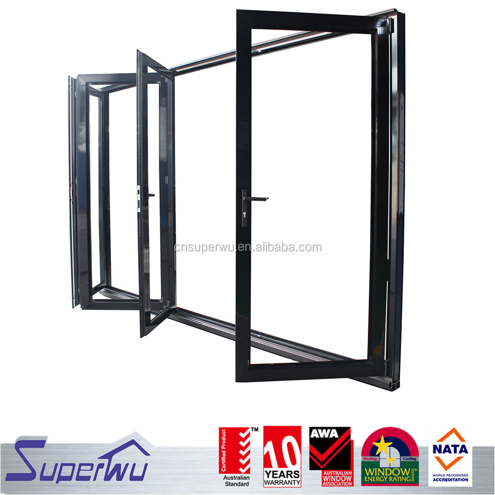 superwu safety top quality aluminium stacker bi-folding windows doors/pictures aluminum window and door