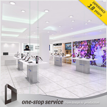 electronic store used wooden lighting showcase mobile in Australia