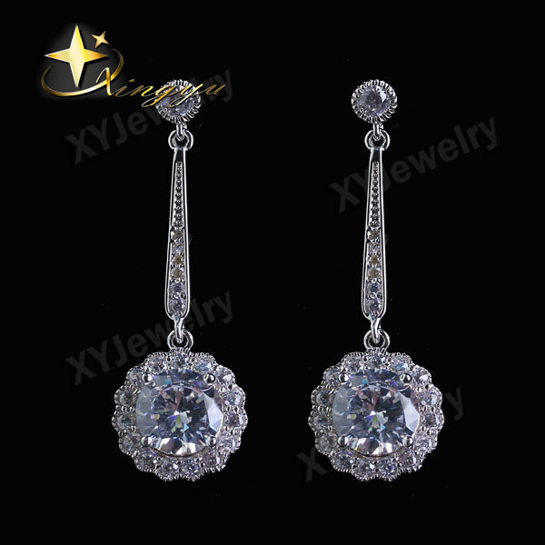 Wholesale Collette Clear Zirconia Round Earrings Jewelry XYE100407