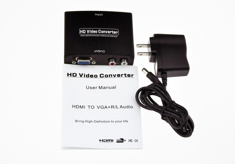 Lowest price HDMI to VGA Audio converter box 1080P