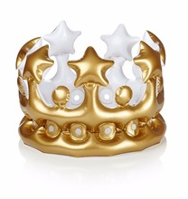 Colorful Funny Celebration Promotion Toy Plastic PVC Kings Inflatable Crown