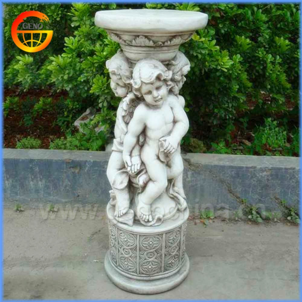 Stable fiberstone/ fiberglass flower pot stand decorative column