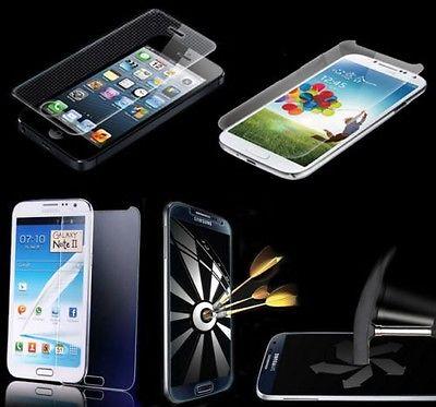 100% GENUINE TEMPERED GLASS FILM SCREEN PROTECTOR FOR VARIOUS PHONES TABLETS 2014 new hot sell product