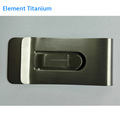 2017 Plain Titanium Metal Money Clip, Spring Money Clip Antifade