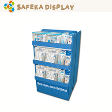 3 Tiers 2 side Carton Store shelf Custom Cardboard supermarket retail display for entertainments products