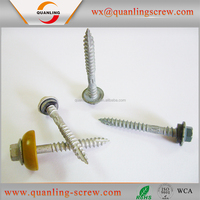 Wholesale knurling shank roofing screw with rubber washer
