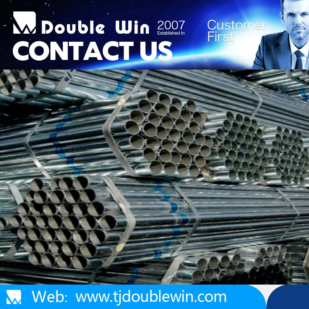 Construction material 1.5 inch galvanized steel pipe for irrigation