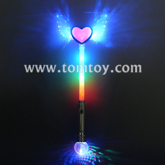 "18"" Light Up Angel Wing LED Heart Wand Costume Accessory"