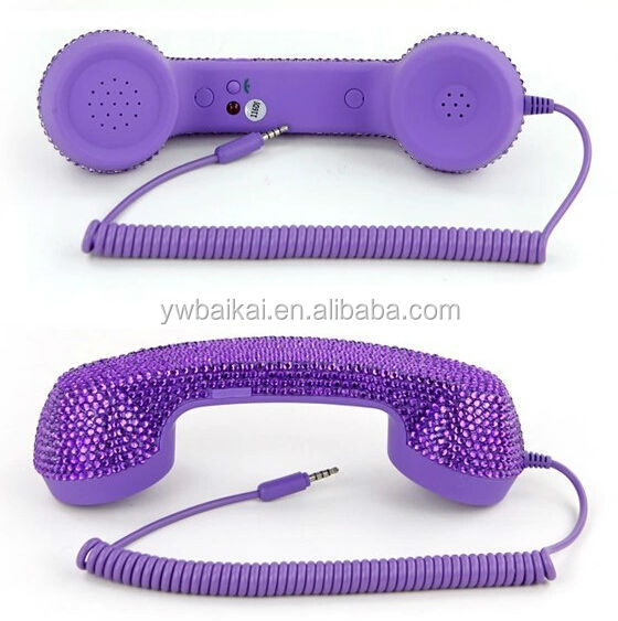mini mobile phone radiation prevention handset/colorful cellphone handset