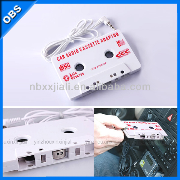 New Product Audio Car Cassette Tape Adapter 3.5mm MP3 CD MV DVD iphone