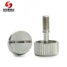 Directly Factory Customized M3 Stainless Steel Slotted Cup Head Machinery Knurled Thumb Hand Tighten Screws