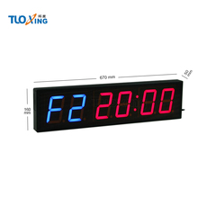 4 inch 6 digit LED electronic Garage timer wall clock for selling