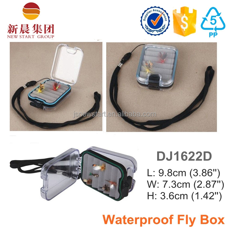 Small Waterproof Plastic Fly Fishing Tackle Box