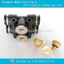 "1/4"" pneumatic fitting fog nozzle,6.35mm pneumatic connector mist nozzle"