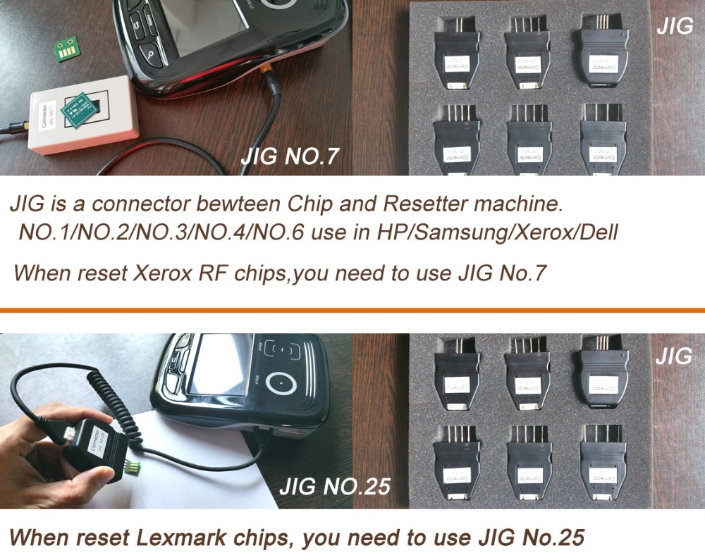 Compatible Chip Resetter for Xerox RF toner chip and drum chip resetter