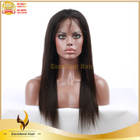 Beauty popular silky straight color #2 Malaysian virgin hair full lace wig wholesale