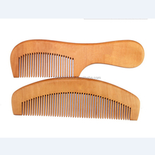 Wholesale hair dye comb cheap salon promotion hair comb made of wood